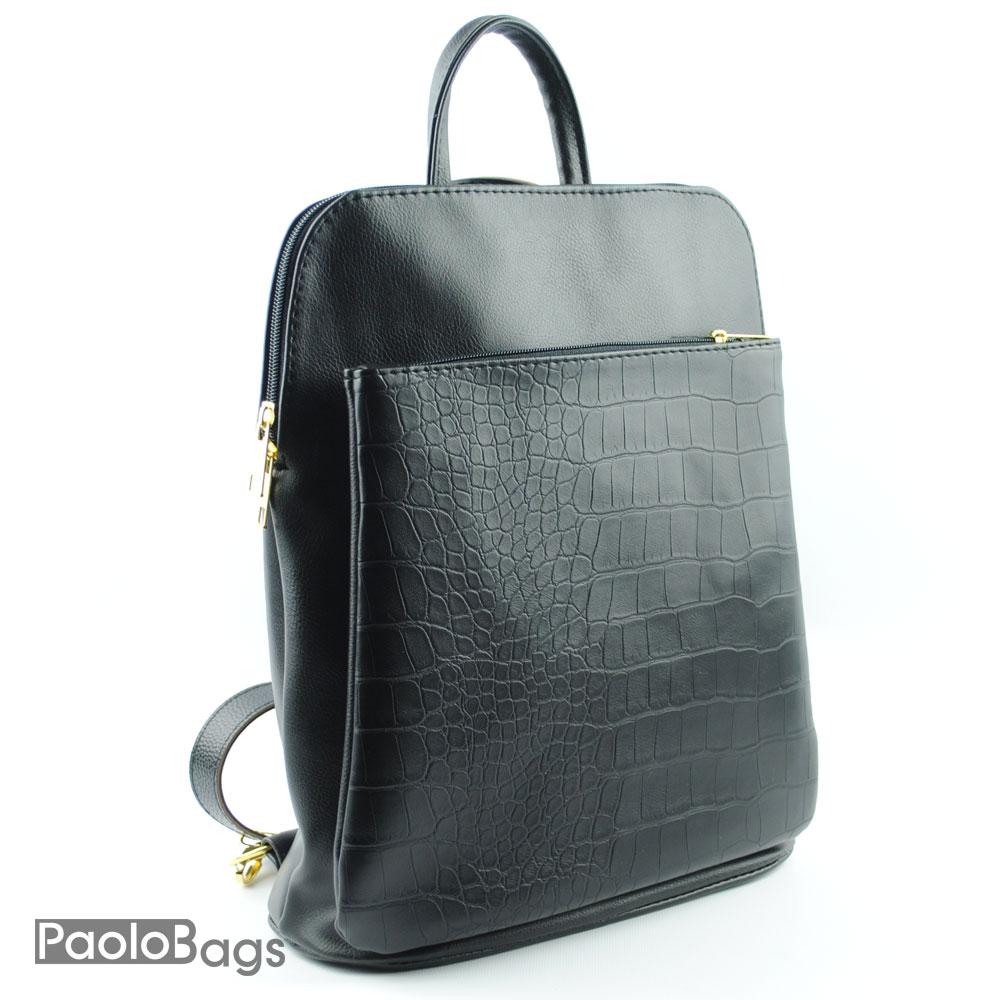 74187b116a3 ДАМСКИ ЧАНТИ : Българска кожена раница 2 в 1 и чанта с външен джоб