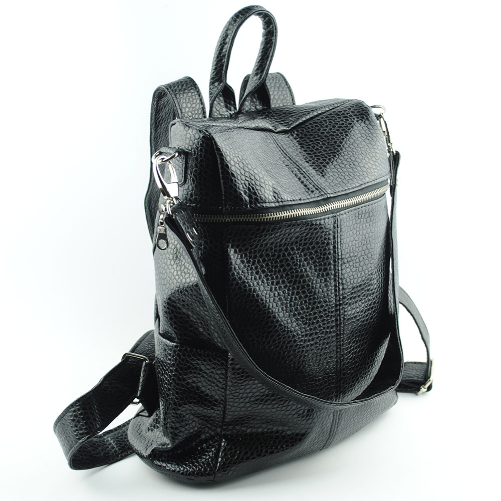 91030e53804 КОЖЕНИ ДАМСКИ РАНИЦИ : Дамска раница чанта две в едно със сваляща се ...