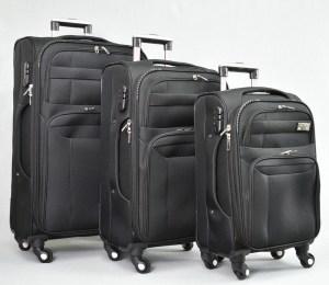 Куфар платнен черен комплект