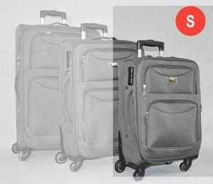 Сив платнен куфар малък