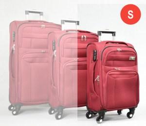 Червен платнен куфар малък