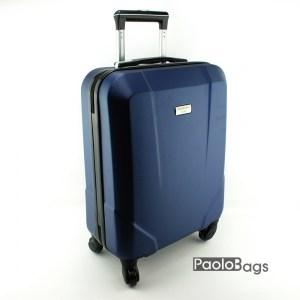 Куфар на колелца за ръчен багаж син 18280