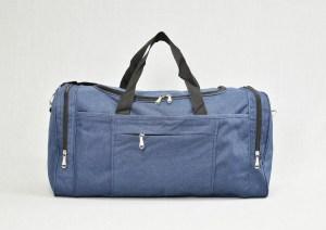 Сак пътна чанта стилна с джоб син