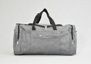 Сак пътна чанта стилна с джоб сив