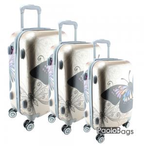 куфар на колелца с пеперуда златен комплект