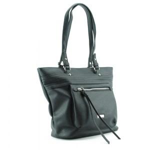 Дамска чанта удобна за носене под мишница черна