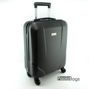 Куфар на колелца за ръчен багаж черен 18283