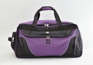 Сак пътна чанта с джобове лилав