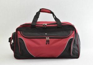 Сак пътна чанта с джобове червен