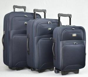 Куфар платнен син комплект с разширител