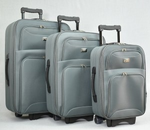Куфар платнен сив комплект с разширител