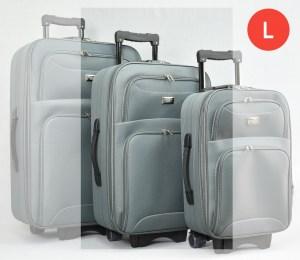 Сив платнен куфар с колелца и разширител