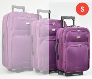 Лилав платнен куфар малък с разширител