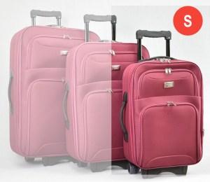 Червен платнен куфар малък с разширител