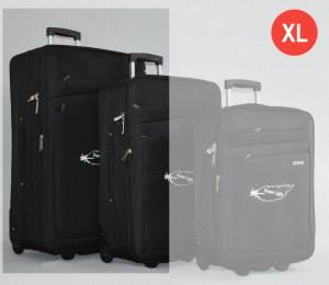 Черен платнен куфар голям