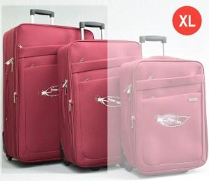 Червен платнен куфар голям