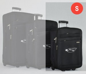 Черен платнен куфар малък