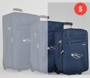Син платнен куфар малък