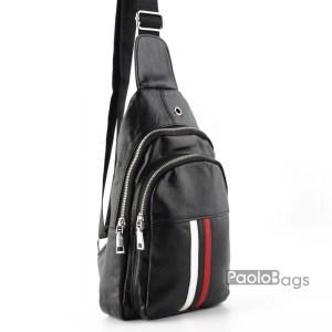 Мъжка чанта за носене на гръб или гърди тип раница 26099