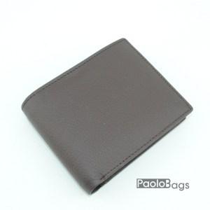 Евтин мъжки портфейл от естествена кожа кафяв 18080