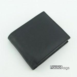 Евтин мъжки портфейл от естествена кожа черен 18081
