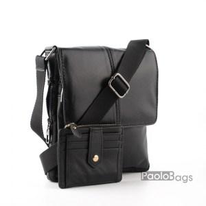 Луксозна мъжка чанта от естествена кожа