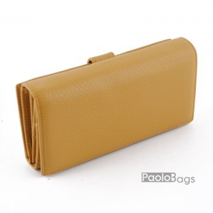 Дамско портмоне от естествена кожа с много прегради 27308