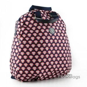 Дамска раница от плат голяма с пастелни цветове 27321