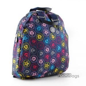 Дамска раница от плат голяма с пастелни цветове 27324