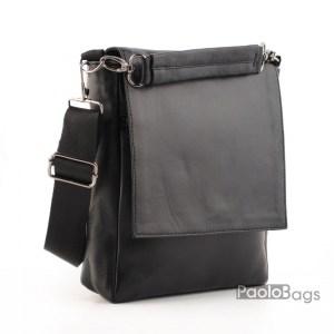 Луксозна мъжка чанта от естествена кожа с 3/4 капак