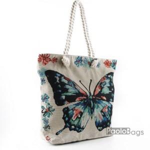 Плажна чанта с пеперуда 27692