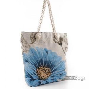 Плажна чанта с цвете 27693