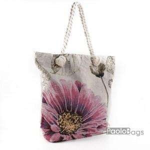 Плажна чанта с цвете 27694