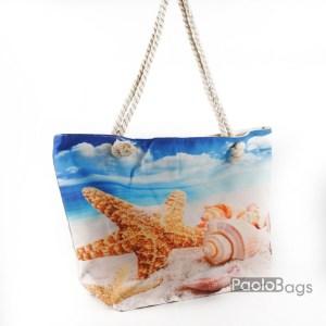 Плажна чанта с морска картинка 27696
