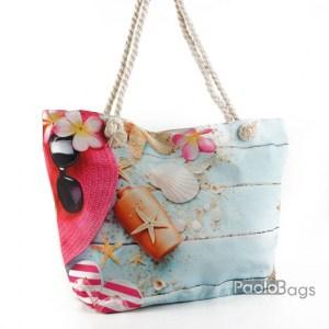 Плажна чанта с морска картинка 27698