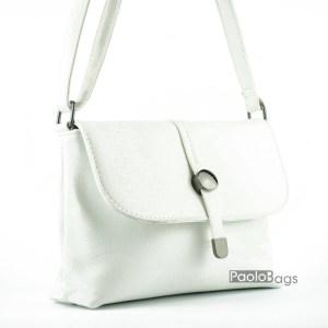 Евтина бяла чанта за рамо светла