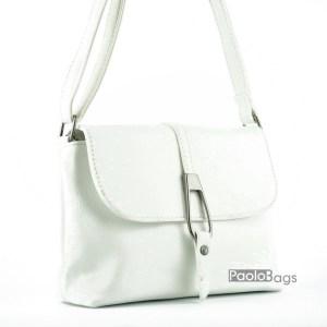Евтина бяла чанта за рамо