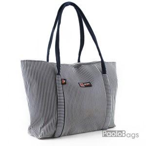 Плажна чанта елегантна на райета 27905