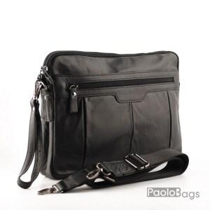 Луксозна мъжка чанта от естествена кожа тип плик
