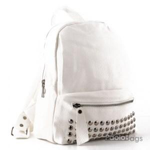 Дамска кожена раница елегантна бяла 23190