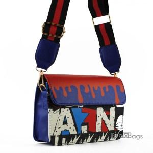Синя малка чанта за през рамо