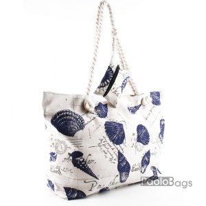 Плажна чанта светла с морски мотиви 27695-2