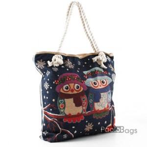 Плажна чанта с бухалчета 27693