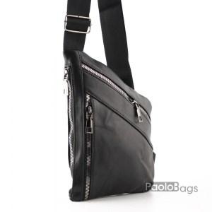 Луксозна мъжка чанта от естествена кожа тип раница