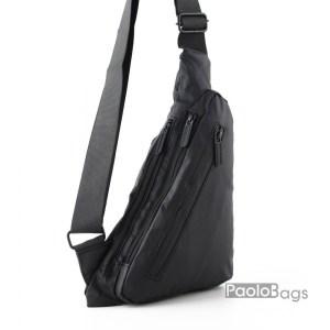 Луксозна мъжка чанта от плат тип раница