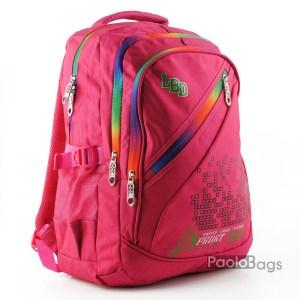 Ученическа раница евтина розова за момче с ортопедичен гръб с пастелни цветове
