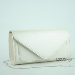 Перлена чанта тип клъч плик вечерна официална със стилен и елегантен дизайн изчистен модел