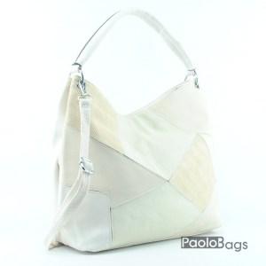 Дамска чанта тип торба в комбинация от цветове 18007