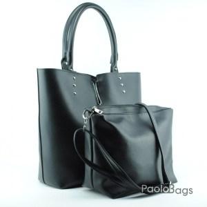 Елегантна и стилна дамска чанта черна 18016