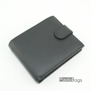 Мъжки портфейл от естествена кожа черен 18204